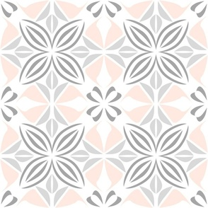 Abstract geometrical floral