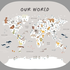 Playmat Animals world