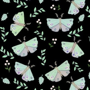 Fun Pastel Moths Fluttering