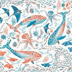 Explore the deep ocean! - playmat
