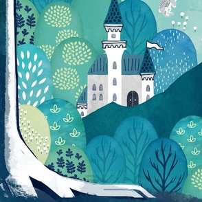 Find the magical creatures of the enchanted forest playmat - yard