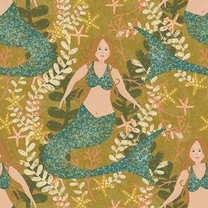 "6"" Mermaids on Gold"