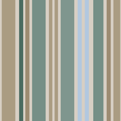 Soft stripes in cool sage, blue and taupe: jumbo scale for wallpaper, home decor and duvet covers.