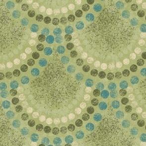 "4""x4"" Mermaid Scales on Light Green"