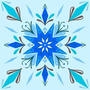 Blue ornamental stars