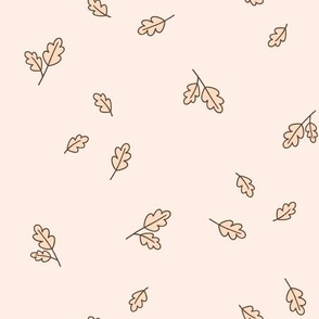 Falling Leaves in Off White