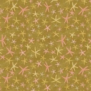 Sea Stars on Gold