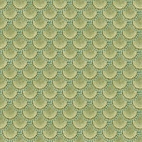 Small Mermaid Scales on Green
