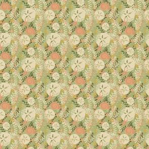 Sand Dollars on Green - Small Print