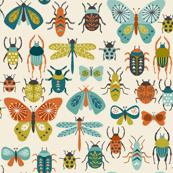 Retro bugs - cream