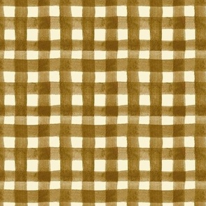 watercolor gingham gold