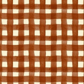 watercolor gingham spice