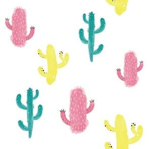 Colorful Cactus Watercolor