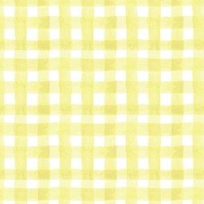 watercolor gingham yellow