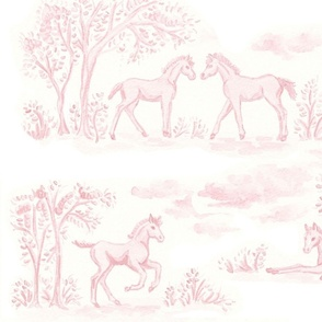 Pink Pony Toile - Large