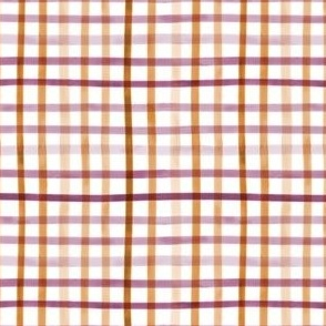 Watercolor Halloween Gingham - Small