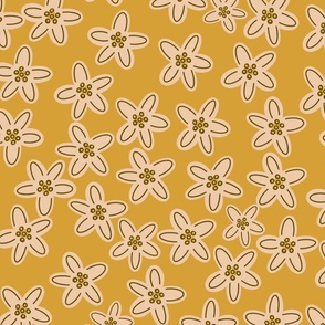 Fall whimsical buds-mustard