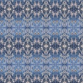 Mono Print Geometric neutral large