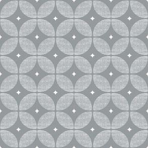 Gray Geometric Circle // Atomic Starburst // Mid century Modern Neutral wallpaper and fabric