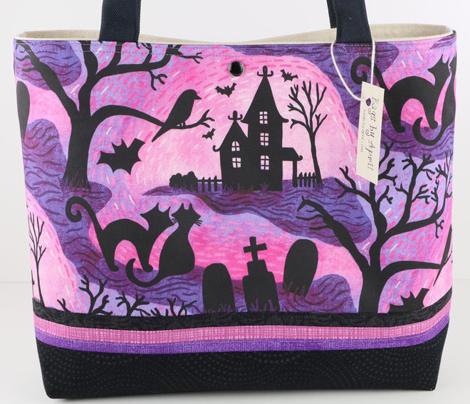 "Spooky Halloween Haunts- Fandango Pastel Pink 8.5"""