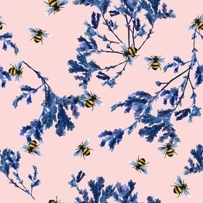 Bee and Floral Pink
