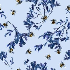 Bee Foliage Periwinkle