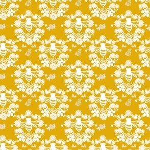 Bee Floral Motif in Gold