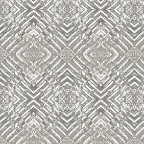 Tractor tracks in taupe grey & white