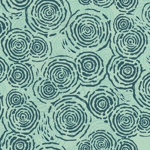 WATER RIPPLES AND LITTLE FISH - SEAFOAM