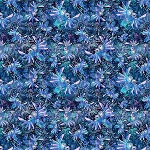 FANTASTIC Owls blue small