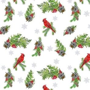 Christmas Cardinal Farmhouse Print