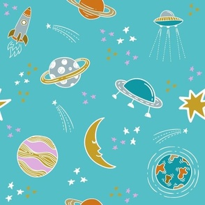 Outer Space On Aqua