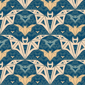 Bats Cave - abstract, geometric, pastel, bats