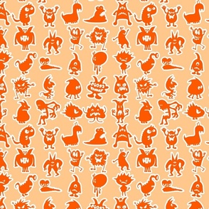 Orange Little Monsters