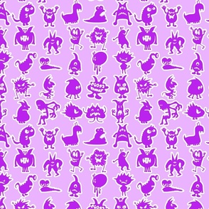 Purple Little Monsters