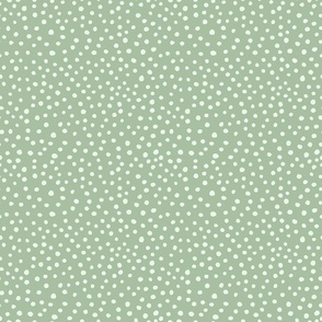 Dots on Sage Green