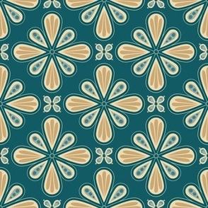 Dashi - Navy Floral Geometric