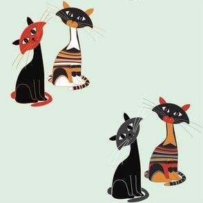 Super cat Halloween diagonals