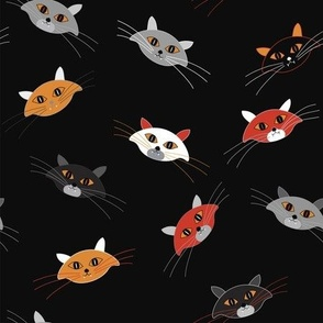 Super cat Halloween dark