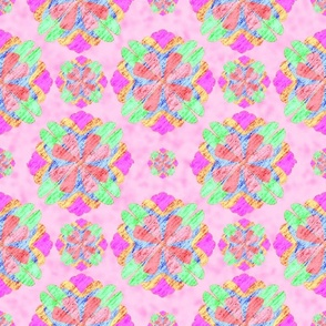 Retro Floral Pink Background
