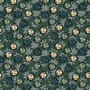 Berry Roses Green