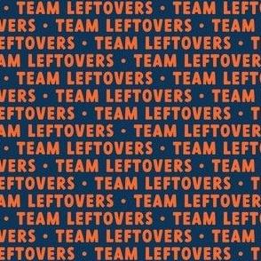 Team Leftovers - orange on blue - LAD21