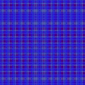 Geometric line design in purple and blues