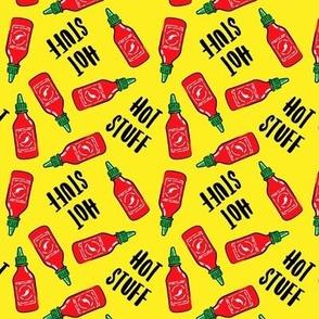 Hot stuff - Sriracha sauce bottle - yellow - C21