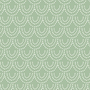 Dotted Scallop in Sage Green