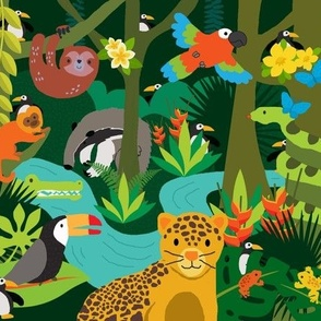 Rainforest Seek and Find Mini - Penguins hiding in the jungle