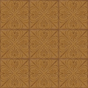 Golden Brown Flair Tapestry Tile