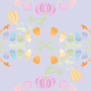 Pastel Candy Corn purple