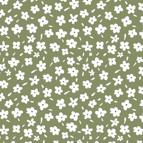 Simple Green Florals