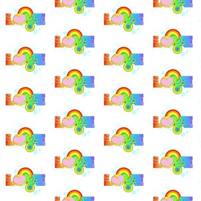 Love Rainbow Text on White